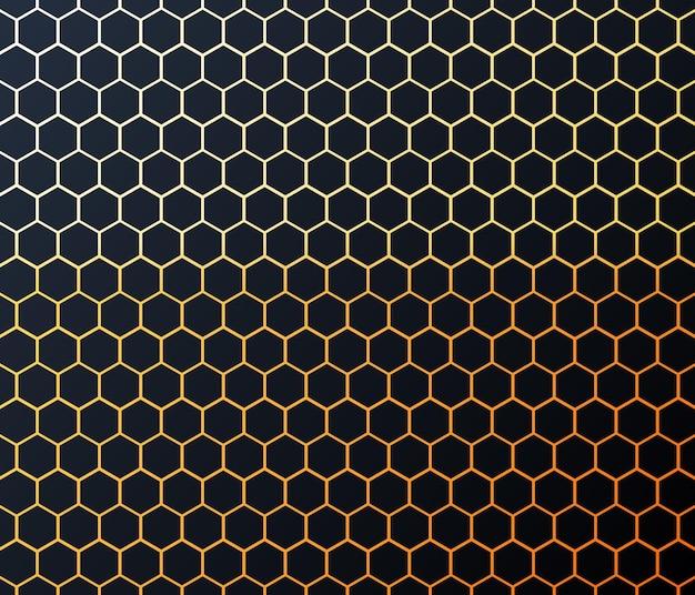 Vecteur de fond hexagonal abstrait moderne