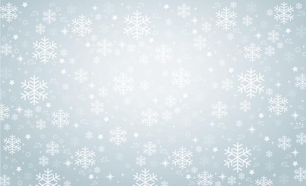 Vecteur de fond hiver flocon