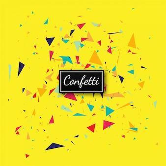 Vecteur de fond jaune confettis élégant