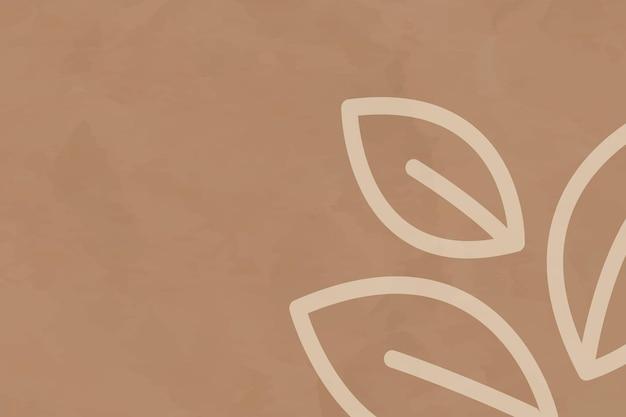 Vecteur de fond marron de ligne de feuille