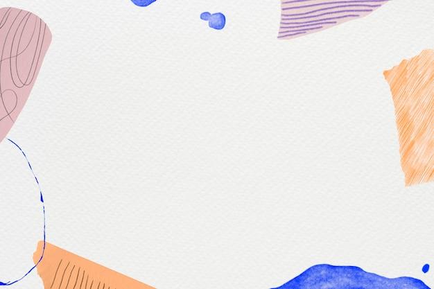 Vecteur de fond de memphis avec multicolore