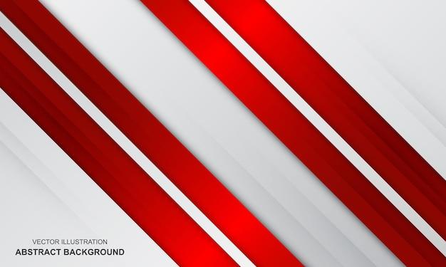 Vecteur de fond moderne abstrait blanc et rouge