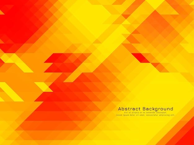 Vecteur de fond moderne géométrique motif mosaïque triangulaire jaune