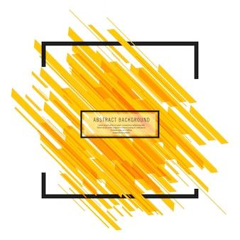 Vecteur de fond moderne lignes jaune vif