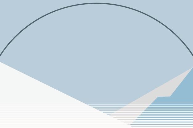 Vecteur de fond de montagne bleu hiver