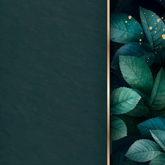 Vecteur de fond motif feuillage vert