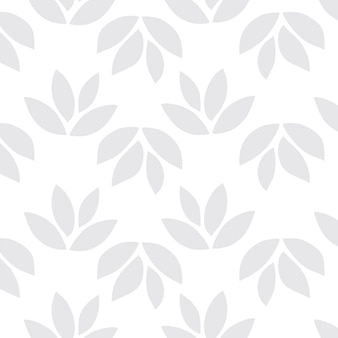 Vecteur de fond à motifs de feuilles transparentes gris clair