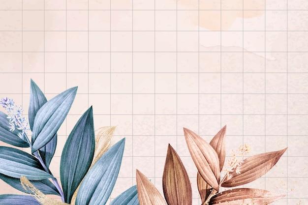 Vecteur de fond de papier peint de bureau fleur