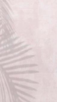 Vecteur de fond de papier peint de téléphone esthétique, ombre de feuille avec la lumière naturelle