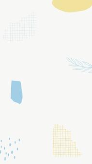 Vecteur de fond de papier peint de téléphone minimal