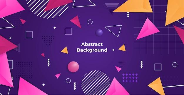 Vecteur de fond réaliste de formes géométriques abstraites