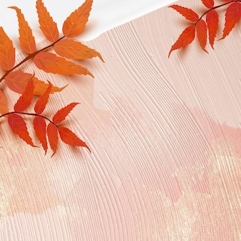 Vecteur de fond de saison d'automne avec des feuilles de sumac