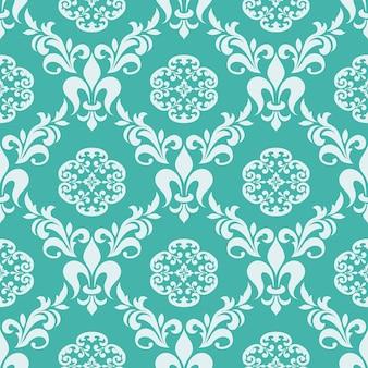 Vecteur de fond sans couture damassé. ornement damassé à l'ancienne de luxe classique, texture transparente victorienne royale pour papiers peints, textile, emballage. modèle baroque floral exquis.
