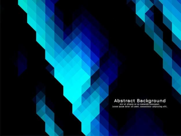 Vecteur de fond sombre bleu géométrique motif mosaïque triangulaire