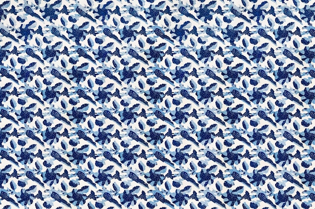 Vecteur de fond de style vintage bleu floral