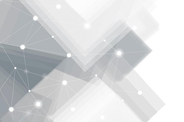 Vecteur de fond de technologie futuriste gris et blanc