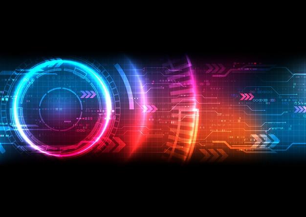 Vecteur de fond de technologie futuriste