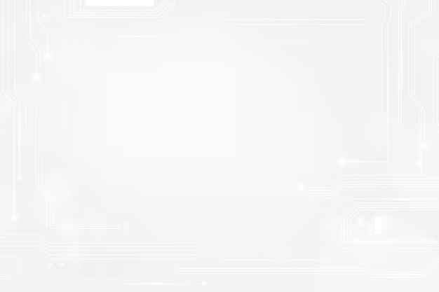 Vecteur de fond de technologie de grille numérique dans le ton blanc