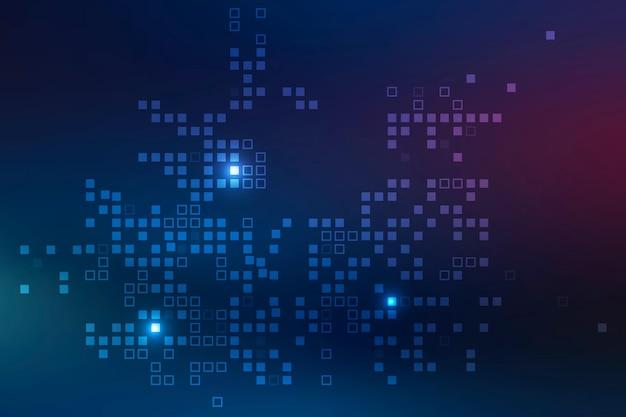 Vecteur de fond de technologie avec motif de pixels
