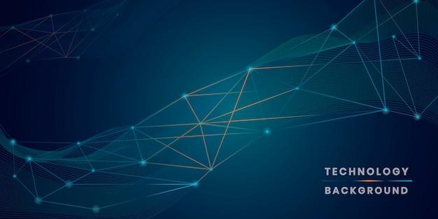 Vecteur de fond technologie réseau futuriste réseau bleu