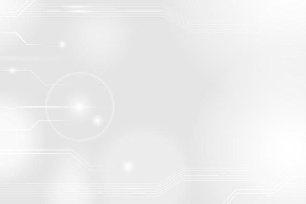 Vecteur de fond de technologie de réseautage futuriste dans le ton blanc