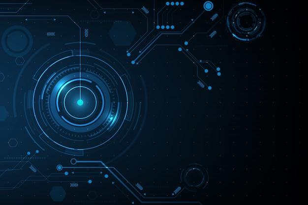 Vecteur de fond de technologie et de la technologie cercle.