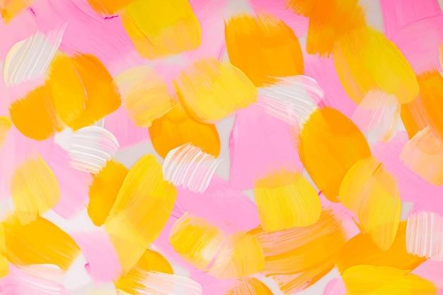 Vecteur de fond texturé de peinture acrylique dans l'art créatif de style esthétique rose