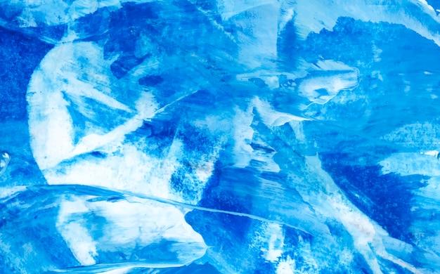 Vecteur de fond texturé pinceau acrylique abstrait bleu et blanc