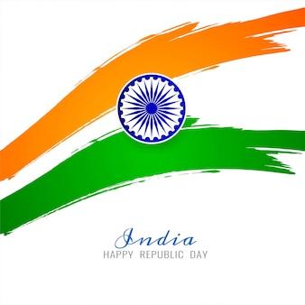 Vecteur de fond thème drapeau indien moderne