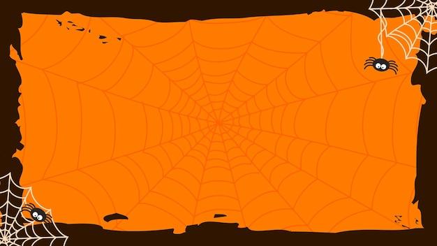 Vecteur de fond de toiles d'araignée halloween