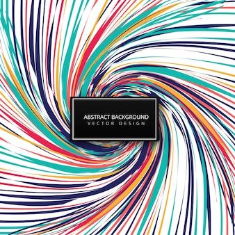 Vecteur de fond vague abstrait lignes colorées tourbillon