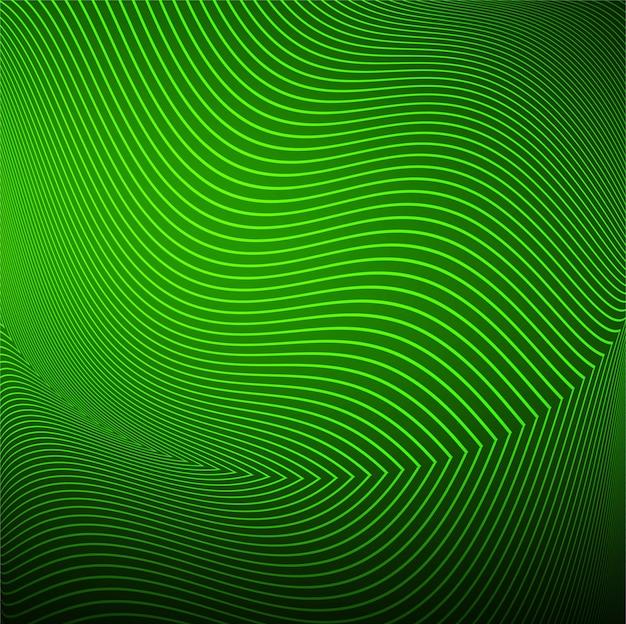 Vecteur de fond vague moderne ligne verte