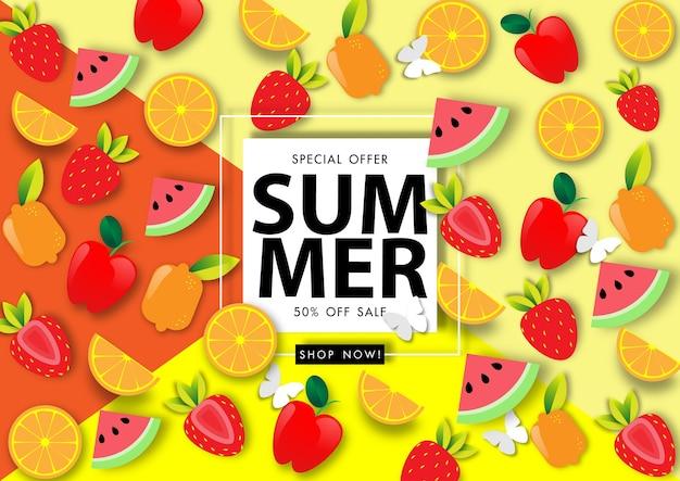 Vecteur de fond de vente d'été