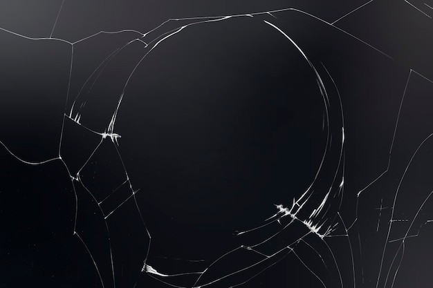 Vecteur de fond de verre brisé sur fond noir