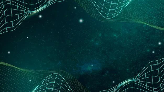 Vecteur de fond vert vague abstraite 3d