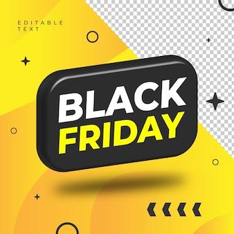 Vecteur de forme 3d vendredi noir