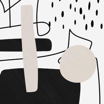 Vecteur de forme abstraite en noir et gris