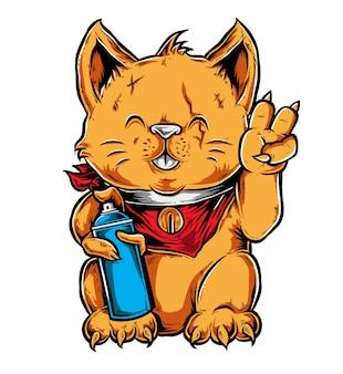 Vecteur de graffiti chat