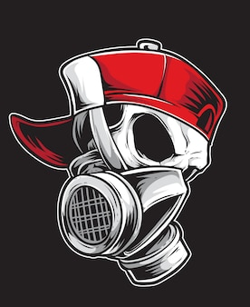 Vecteur de graffiti crâne