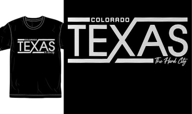 Vecteur graphique de conception de t-shirt de ville urbaine du texas