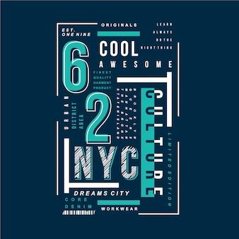 Vecteur graphique de typographie génial cool new york city