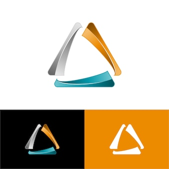 Vecteur gratuit: 3d triangle logo