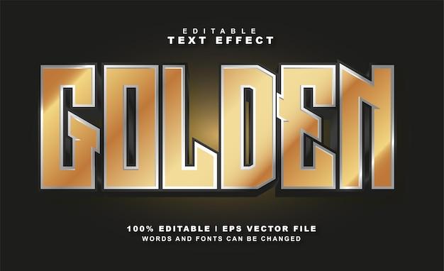 Vecteur gratuit d'effet de texte doré