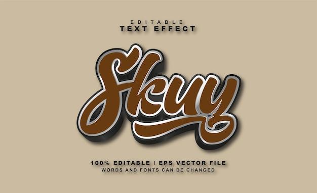 Vecteur gratuit : effet de texte skuy