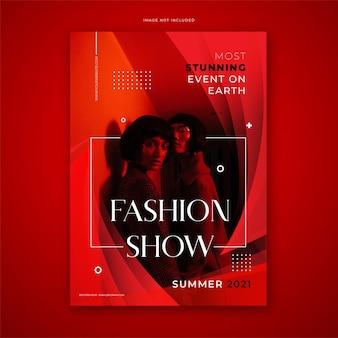 Vecteur gratuit : modèle d'affiche d'impression d'événement de mode