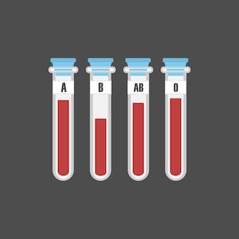 Vecteur de groupe sanguin