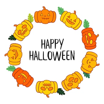 Vecteur de halloween heureux.