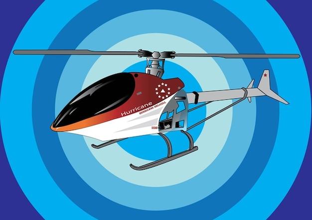 Vecteur de l'hélicoptère sans