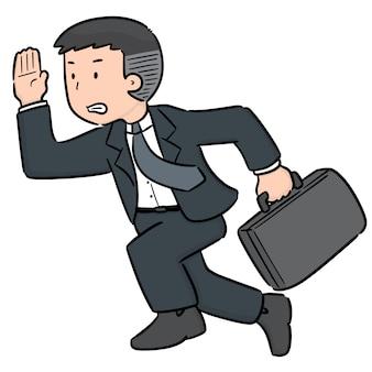 Vecteur d'homme d'affaires en cours d'exécution