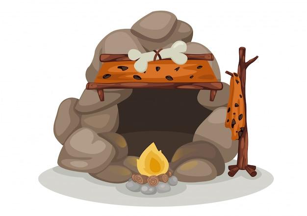 Vecteur de l'homme des cavernes